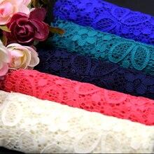 Gehobenen stretch spitze stoff blume DIY ästhetische kleid hemd bekleidungsstoffe RS334
