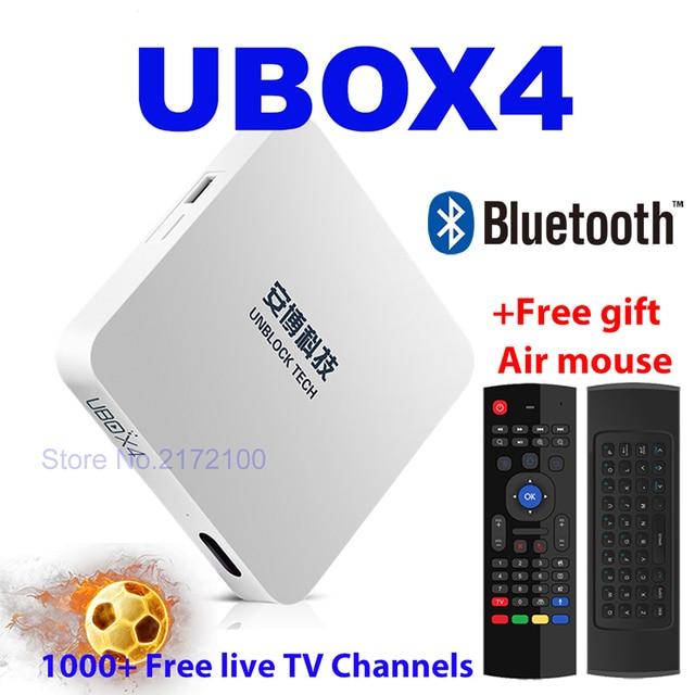 Unblock Ubox4 Ubox 4 Black Upro Os Android Free Iptv Box Smart Tv