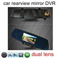 New 5 inch Rearview Mirror Car Rear view Full HD 1080P car DVR dual lens include rear camera video recorder vehicle hot sale
