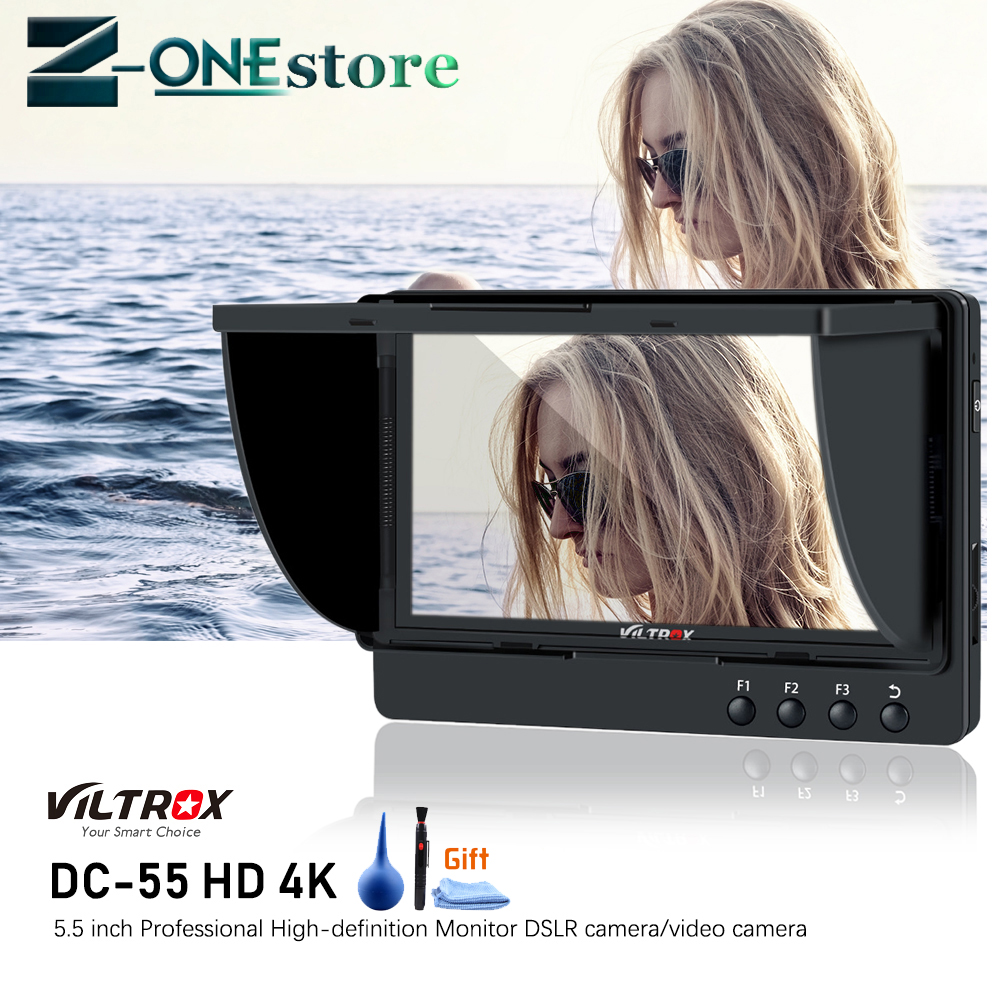 Viltrox DC-55HD 5.5 pouces 4 K 1920x1080 IPS HD LCD caméra moniteur vidéo affichage Canon Nikon SONY DSLR BMPCC 5DIV HDMI AV entrée