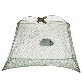 Amazing 100% Original Folding Nylon Square Fishing Net Fishing Accessories cb5feb1b7314637725a2e7: 100x100cm|60x60cm|80x80cm