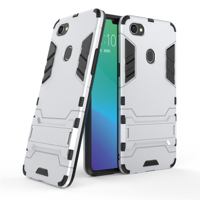 Case For OPPO F7 Cover Soft Silicone Back Hard Hybrid Rugged Armor Cases For Oppo F7 F 7 Fundas Capa