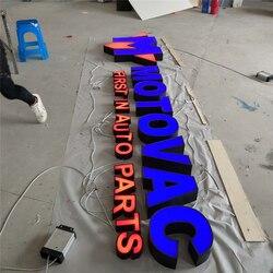 Fábrica al aire libre Galvinized de regreso acrílico cara luz LED cartas