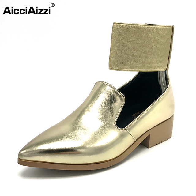 AicciAizzi Size 33-43 Women's Soft Flat Shoes Women Ankle Wrap Pointed Toe Female Flats Stylish Party Lady  Fashion Footwears