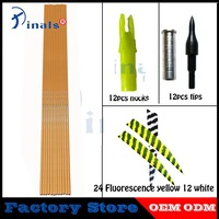 Inals Spine 500 Bamboo Skin Carbon Arrows Turkey Feathers 32Inch Shafts 100gr Points Compound Recurve Bow Hunting Archery