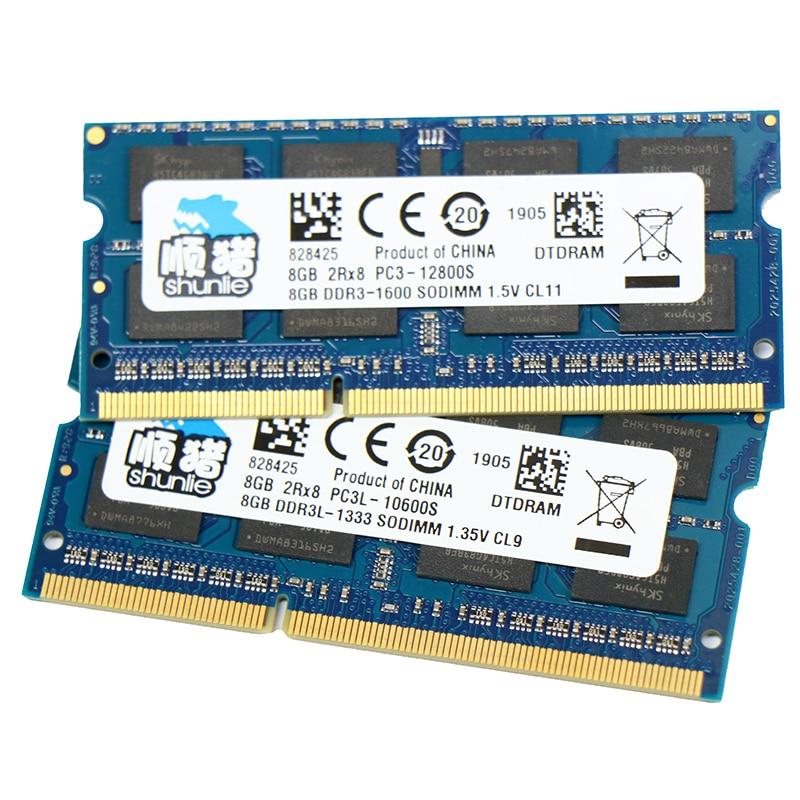 Chip Hynix DDR3 2GB GB 8 4GB 1066MHz 1333MHz 1600MHz laptop 1.5V 1.35V memória Ram SODIMM