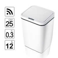 Automatic Touchless Intelligent induction Motion Sensor Kitchen Trash Can Wide Opening Sensor Eco-friendly Waste Garbage Bin