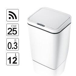 Automatico Touchless Intelligente di induzione del Sensore di Movimento Da Cucina Cestino Ampia Apertura Sensore Eco-Friendly Rifiuti Bidone Della Spazzatura