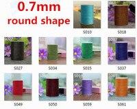 0,7 мм круглой формы вощеная нить для кожи швейные
