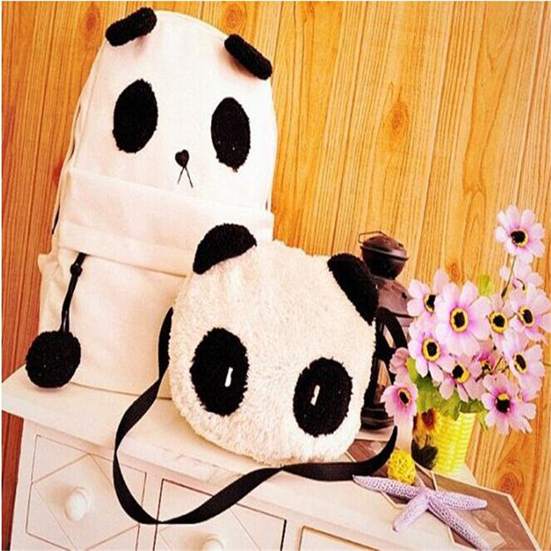 2017 New Fashion Cute Girl Girl Style Panda Schoolbag Backpack Shoulder Book Book Bag