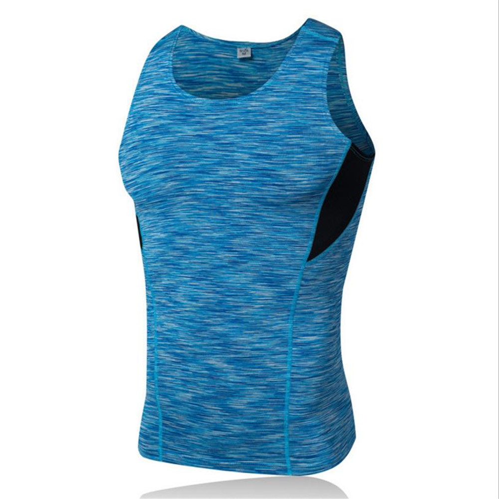 2018Men Gmy Shark Sport Exercise Trainning Tight Vest Quick Dry Flexible Tops Breathable Running Shirt Sportswear Gmy Tight Vest