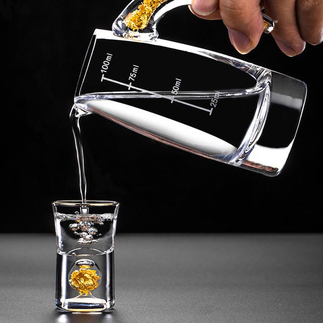 Mini Shot Glasses Set with Decanter