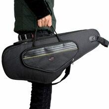 600D Wasser beständig Saxophon Gig Bag Oxford Tuch Rucksack Einstellbare Schulter Riemen Tasche 5mm Baumwolle Gepolstert für Alto sax