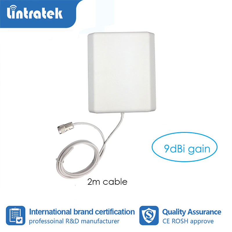 9 DB Gain Internal Panel Antenna With 2m Cable GSM/3G/ 4G Indoor Antenna For Mobile Signal Booster Repeater With 2m Cable S6