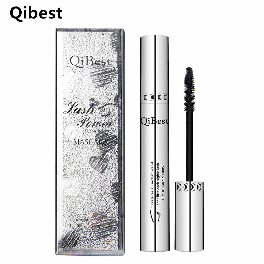 Mascara di Marca Qibest Make up Ciglio Colossal Volume Express Nero Indiano Inchiostro Collagene Cosmetici di Curling Impermeabile In Fibra di Ciglia