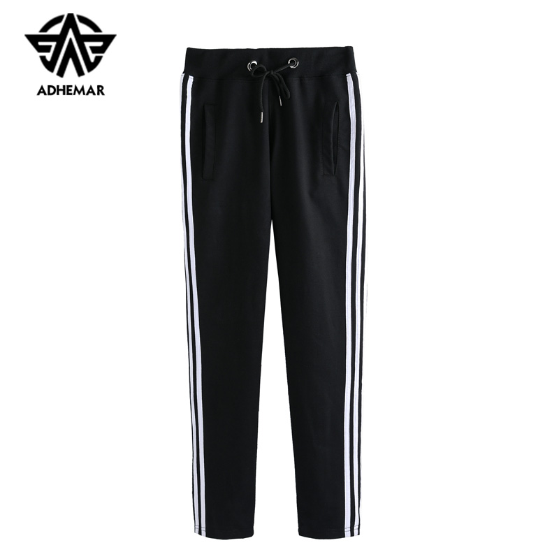 Adhemar Athleisure Sweatpants For Males/girls Lover Garments Informal Korean Model Train Pants