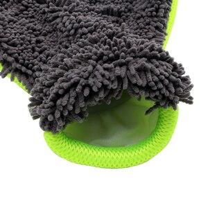 Image 3 - LEEPEE guantes de lavado para coche, herramienta de lavado de microfibra suave para ventana, cuidado automático, accesorios para coche, uso de limpieza del hogar