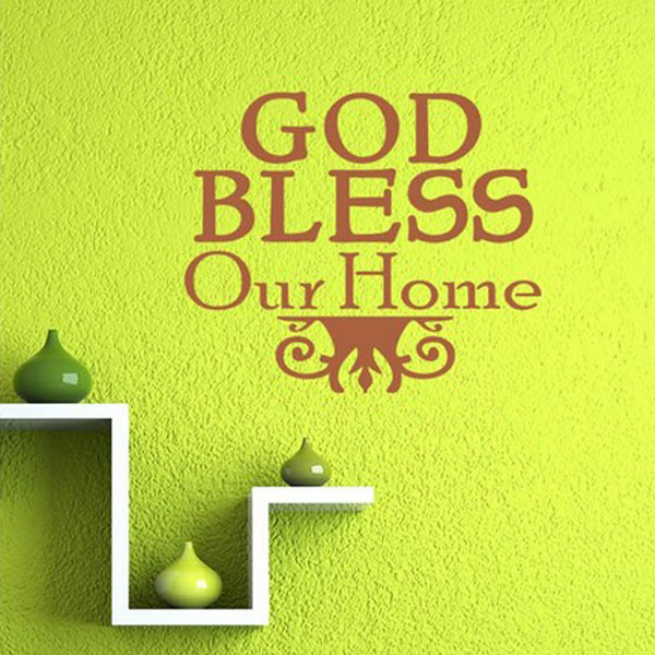 Bless Our Home Text Wall Stickers Family Design Decals Quotes Bedroom Decoration Diy Vinyl Sticker Decor In From