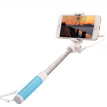 5-colors Handheld Mini Foldable Self-timer Monopod Telescopic Selfie Sticks for iOS Android Smart Mobile Phone Holder Durable