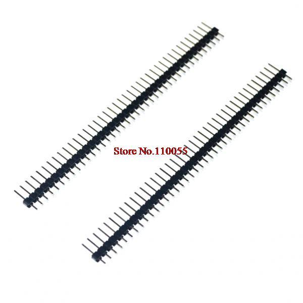 10 Uds unids. 40 pines 1x40 fila individual macho 2,54 Pin Breakable Header Connector Strip para