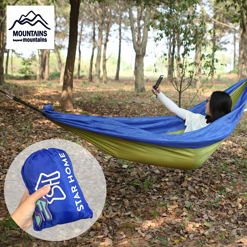 Apprehensive Star Home Camping Hammock Tent 1-2 Person Parachute Hammock Outdoor Adult Backpack Camping Storage Profit Small