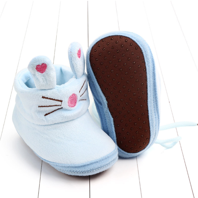 Indoor First Walkers Baby Shoes Cotton Anti-slip Booties Winter Wammer Baby Girl Boy Shoes Newborn Slippers Footwear Booties (24)