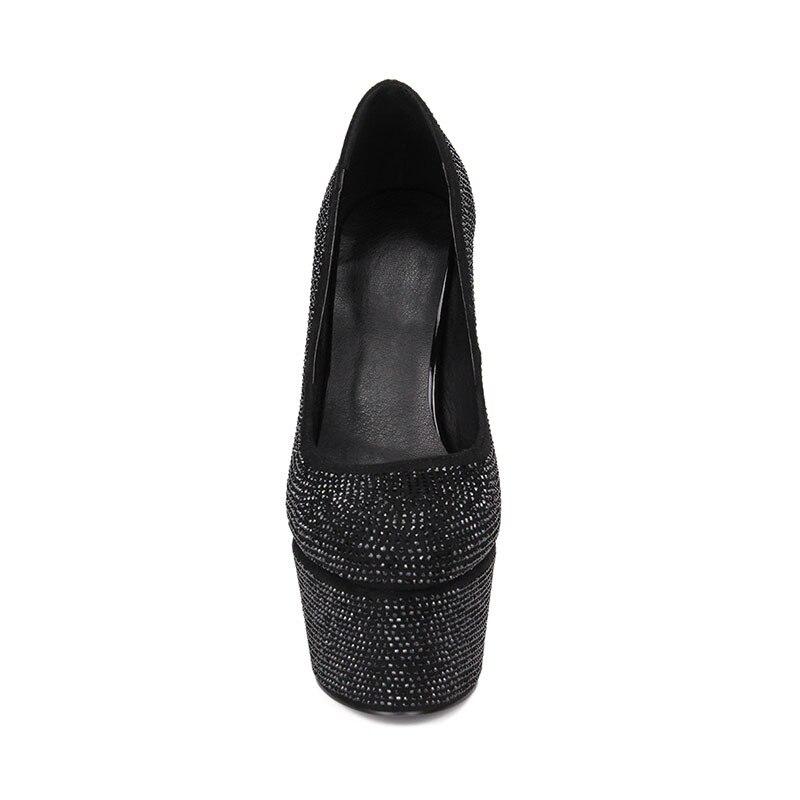 Femme Chaussures Talons Sexy Taille Semelles Partie Noir Neuf Compensées Cristal Printemps Flambant Allen 33 Bureau Pompes 41 Décontracté Femmes Grande Pour À q8xZTB0O
