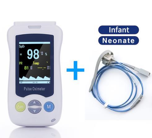 Handheld Pulse Oximeter Portable Medical Handheld Fingertip Pulse Oximeter For Adult Infant Newborn Child Baby Kids lson fingertip pulse oximeter