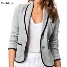 hot deal buy venlilulu 2019 spring blazer women slim suits blazers woman long sleeve pocket casual blazers female jackets for office lady