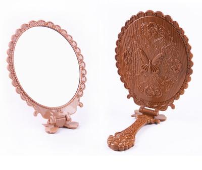 (Buque de de) ovonni lateral doble ampliación led espejo de maquillaje vanidad mesa giratoria pantalla táctil iluminado cosmética mi