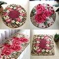Цветочные коврики для комнаты  милые ковры с принтом розы для гостиной  современный  дизайнерский  потертый стиль  цветочный ковер  декорати...