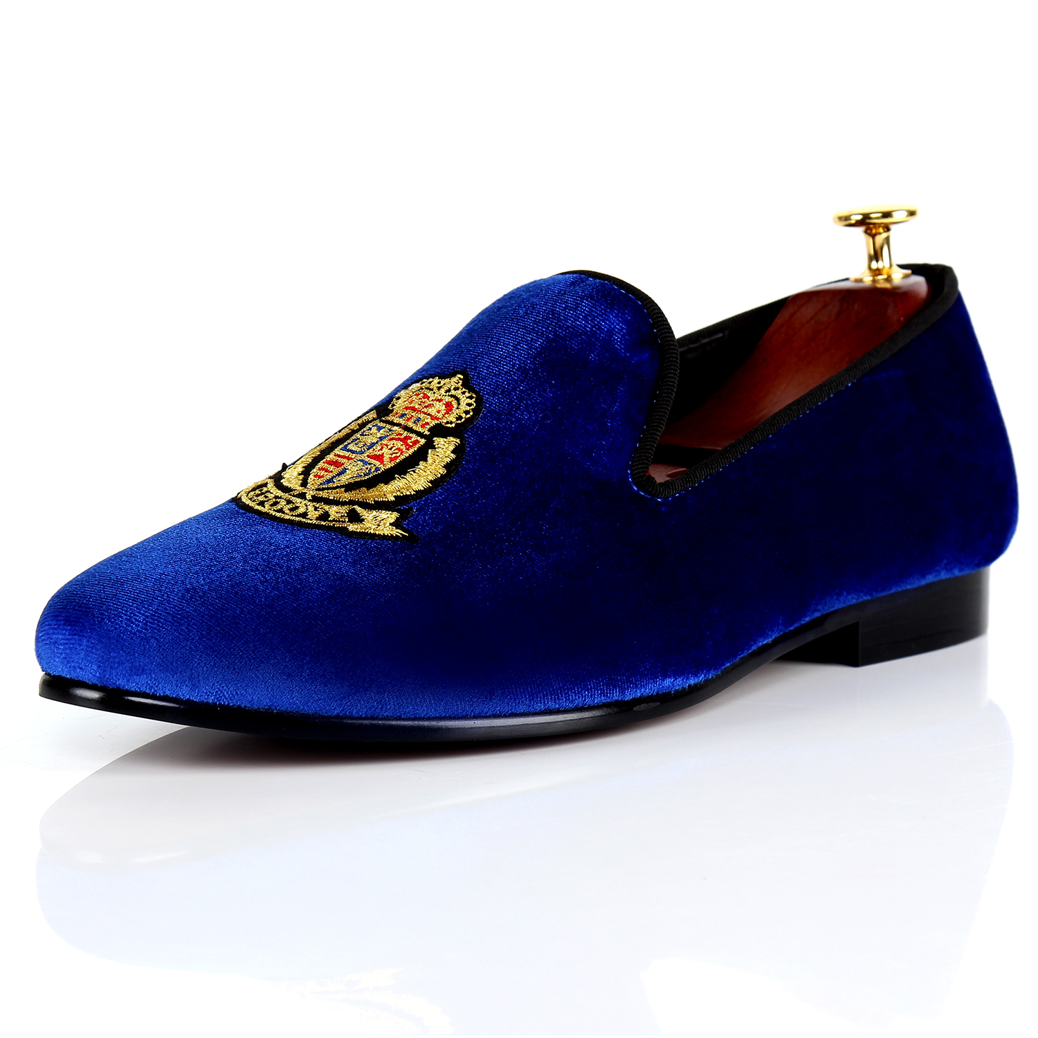 Harpelunde Slip On Men Formal Shoes Blue Motif Velvet Loafers Handmade Wedding Shoes Size 7-14 1w 78lm 7000k cool white light usb powered mini light emergency lamp blue