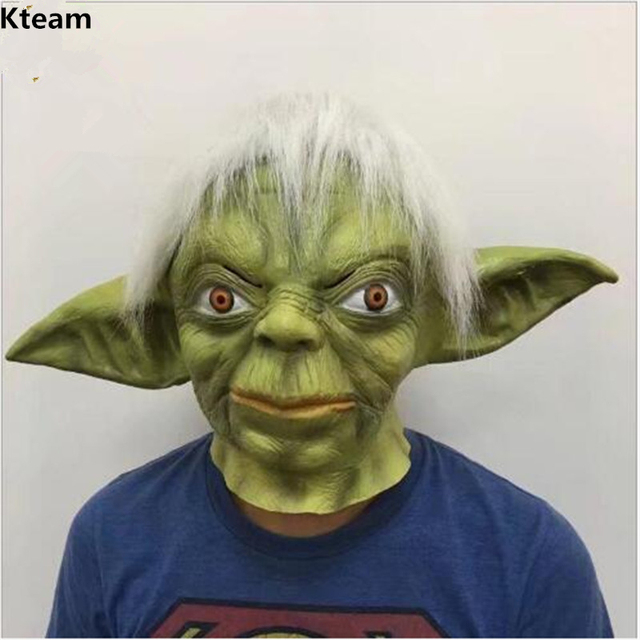 Top Grade Halloween Party Cosplay Movie STAR WARS JEDI YODA DELUXE OVERHEAD Mask HALLOWEEN COSTUME LATEX : yoda costume adults  - Germanpascual.Com