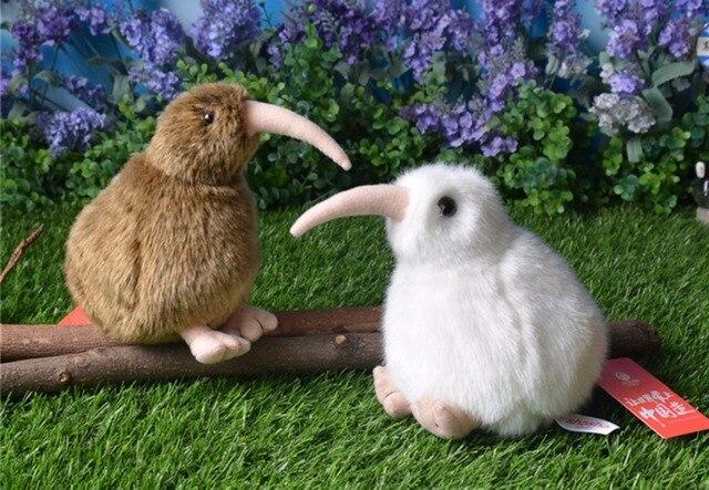 15cm New Zealand White Kiwi Bird Plush Toys Brown Kiwi Stuffed Doll