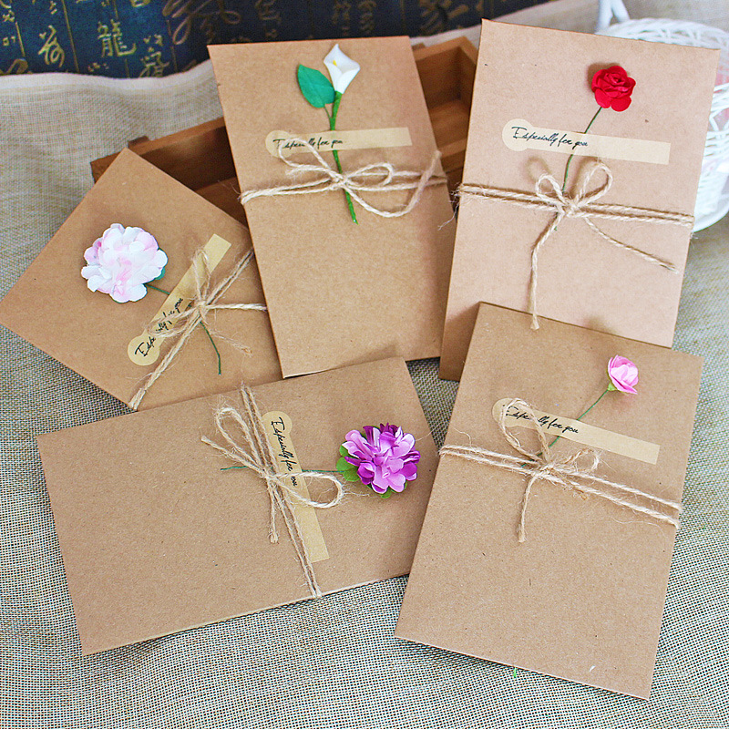 1pcs Sample Craft Paper Flower Wedding Invitations Card Personalized ...