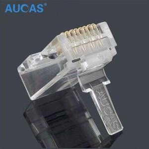 Image 5 - Aucas 5 stücke/10 stücke rj45 cat6 stecker 8P8C computer netzwerk kabel stecker modulare plug cat 3 stück anzug Netzwerk RJ 45 Stecker Cat6
