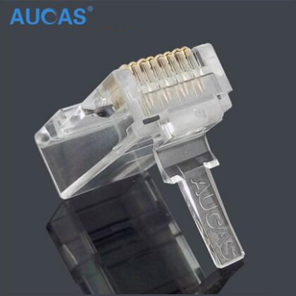 Image 5 - Aucas 5pcs/10pcs rj45 cat6 plug 8P8C computer network cable connector modular plug cat 3 piece suit Network RJ 45 Connector Cat6-in Computer Cables & Connectors from Computer & Office