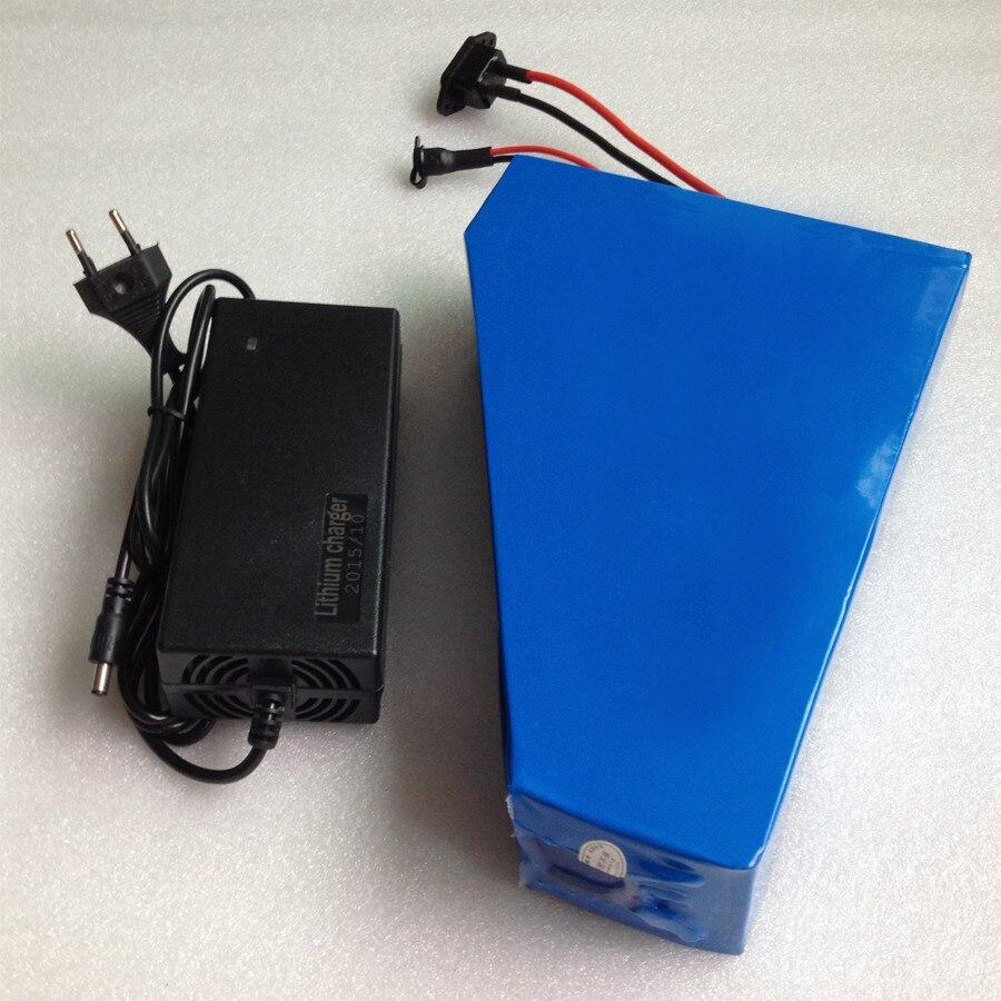 1000 Вт треугольник батарея 36 В 24ah Электрический велосипед аккумулятор с ПВХ чехол 30A BMS, 42 В 2A зарядное устройство Быстрая доставка