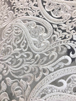 new 5yards/bag FH22# White Hand beads tulle mesh lace fabric for bridal wedding dress/sawing Free shipping alibaba express