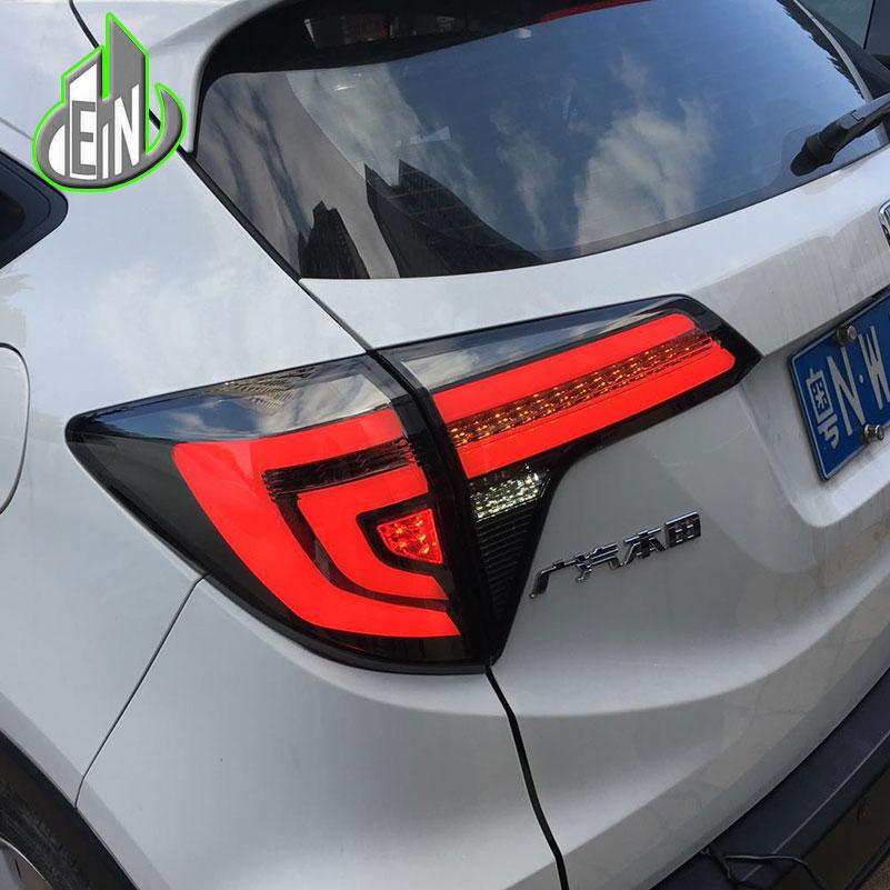 Car Styling Dynamic Turn Signal Tail Lights For Honda HRV HR-V 2015 2017 Taillight LED Tail Light Rear Lamp Drive+Brake+Signal car styling led rear bumper light rear fog lamp brake light turn signal light reflector for honda hrv hr v 2015 2016 2017