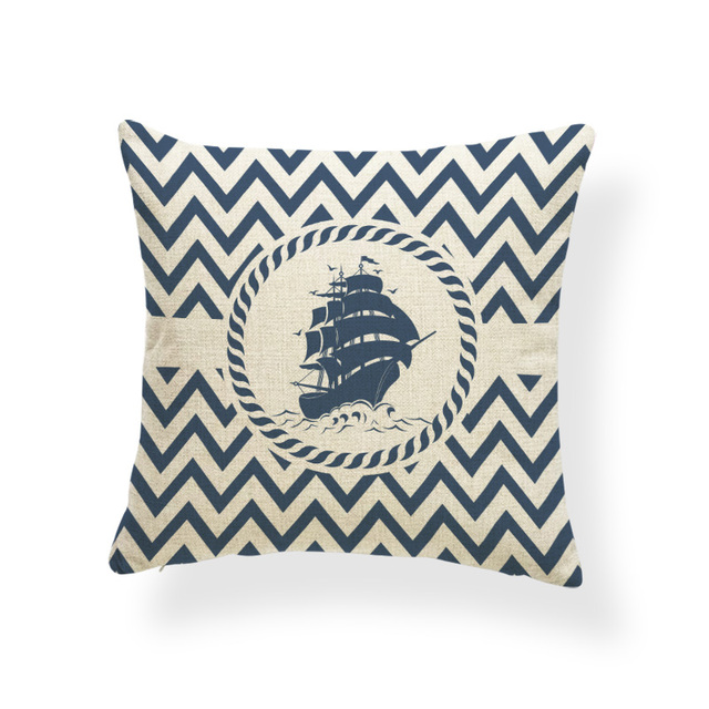 Nautical Patterned Cushion Cover