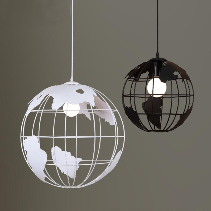 Sinfull g1002 globe iron pendant lights modern minimalist for Modern minimalist lighting