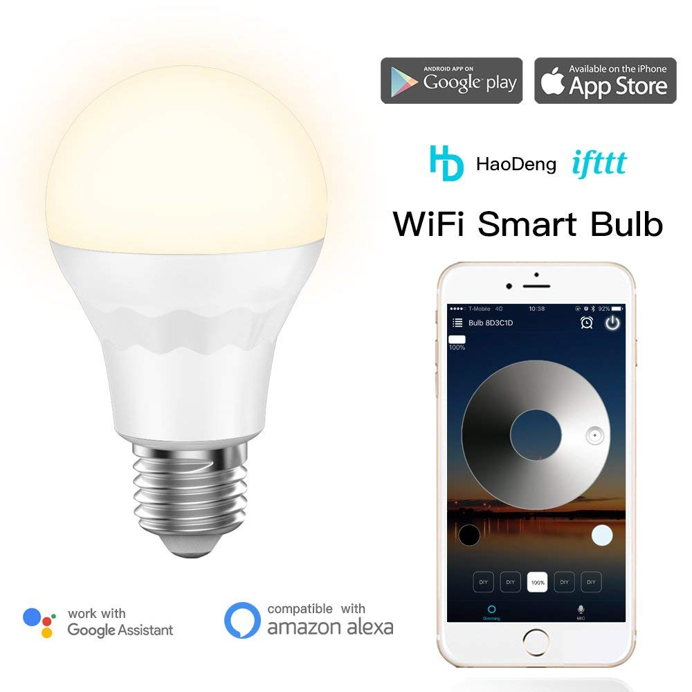 Wifi Led Smart Light Bulb E27 Timer Sunrise Sunset 60w