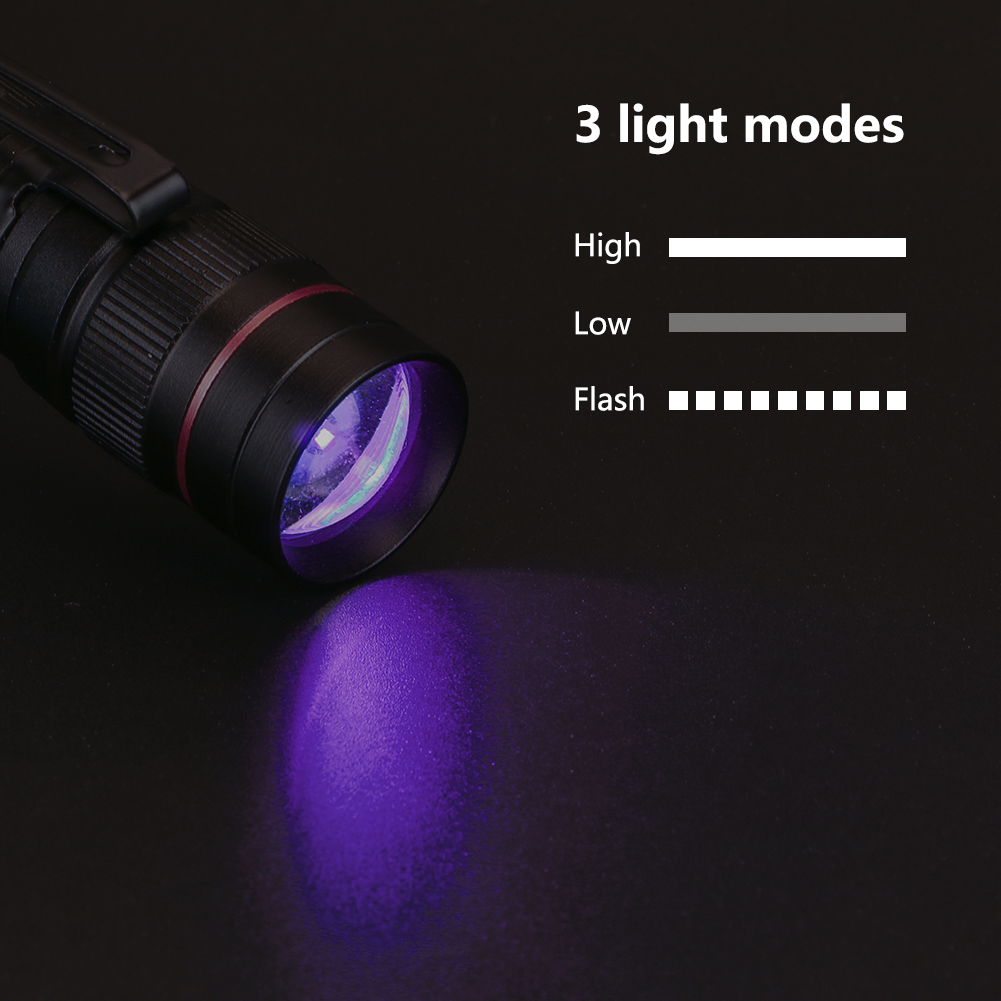 Led Lighting Honest 9 Led Useful Black Mini Aluminum Uv Ultra Violet Flashlight Torch Light Lamp Purple Light For Money Check Credit Card Check Easy To Lubricate Led Flashlights