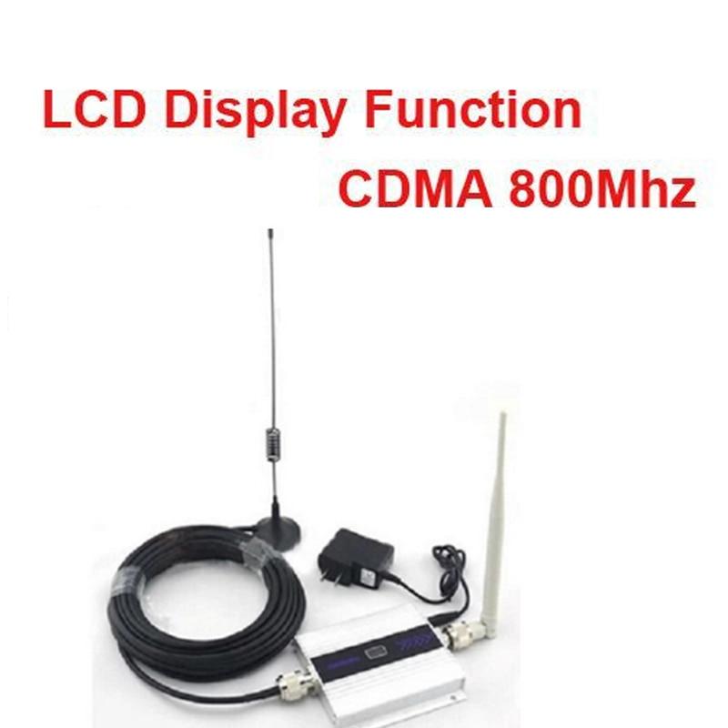 Fonction d'affichage LCD 55dbi à gain de charge CDMA avec câble et antenne répéteur de signal de téléphone portable CDMA 850 Mhz
