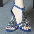Женщины Сандалии 2017 Новая Коллекция горячие мода Клинья Сандалии женская обувь Ретро Бисероплетение женская обувь