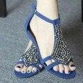 Mulheres Sandálias 2017 New Arrivals hot moda Cunhas Sandálias calçados femininos Retro Beading senhoras sapatos