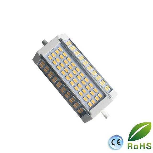 Yüksek güç 35w LED R7S ışık 135mm kısılabilir R7S lamba soğutma fanı J135 R7s ampul yerine 350w halojen lamba AC85 265V