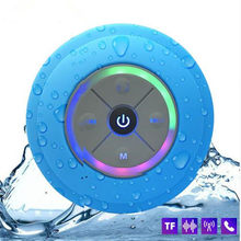 Wireless Portable Mini Q9 LED Waterproof Bluetooth Speaker Music Sound Water Car Speakers Resistant Bathroom Shower Bar PK A9 C6(China)