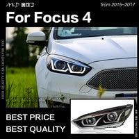 AKD Car Styling for Ford Focus Headlight 2015 2017 Focus 4 LED Head Lamp H7 D2H Hid Option Angel Eye Bi Xenon Beam Accessories